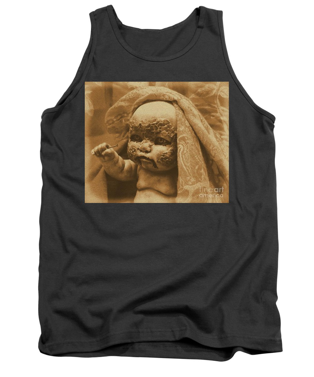 Zombies Tank Top featuring the photograph Nailbiter by Beverly Shelby