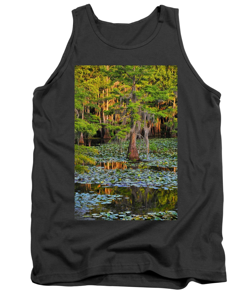 Bog Tank Top featuring the photograph Naked by Skip Hunt
