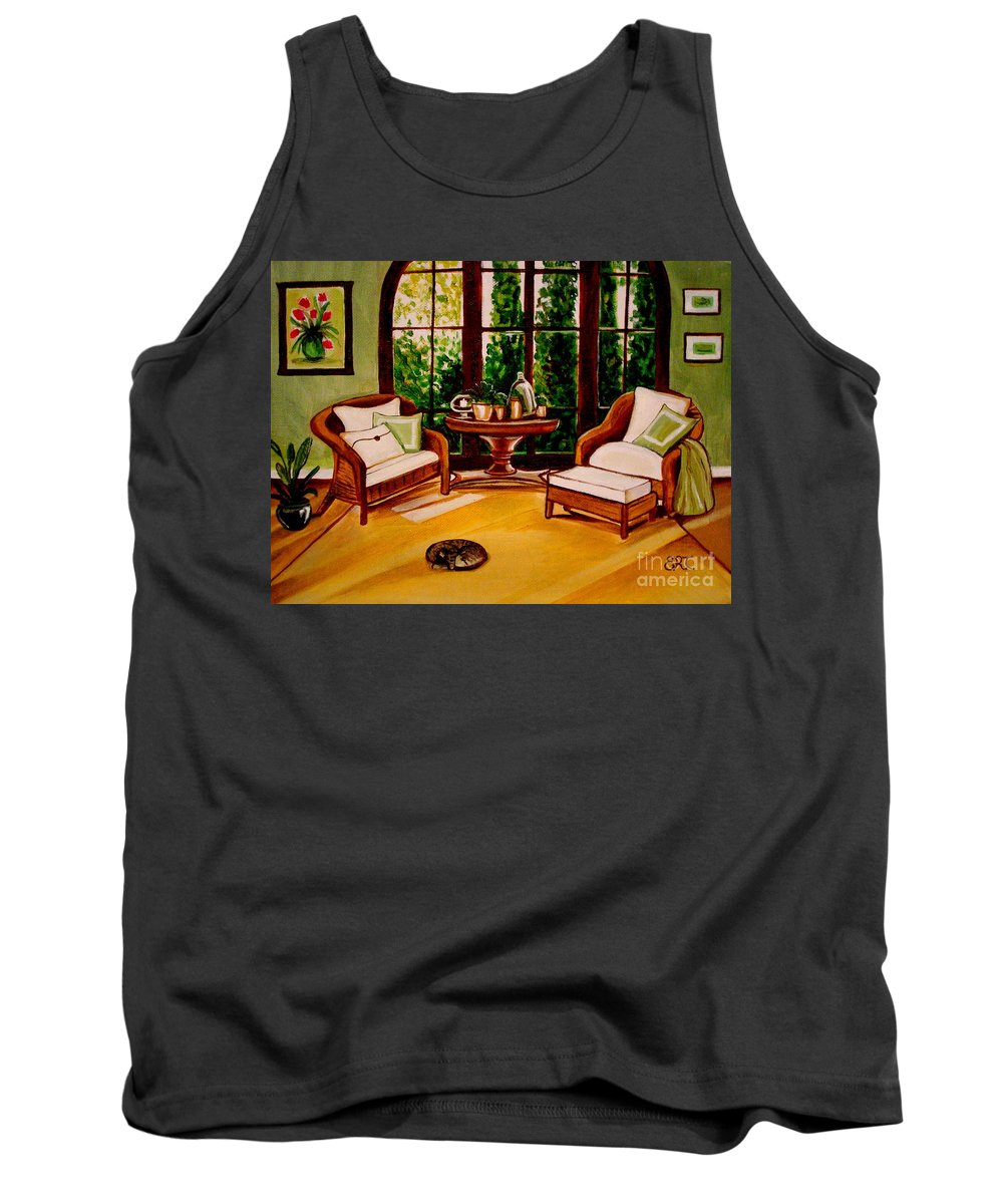 Cats Tank Top featuring the painting Nap Time by Elizabeth Robinette Tyndall