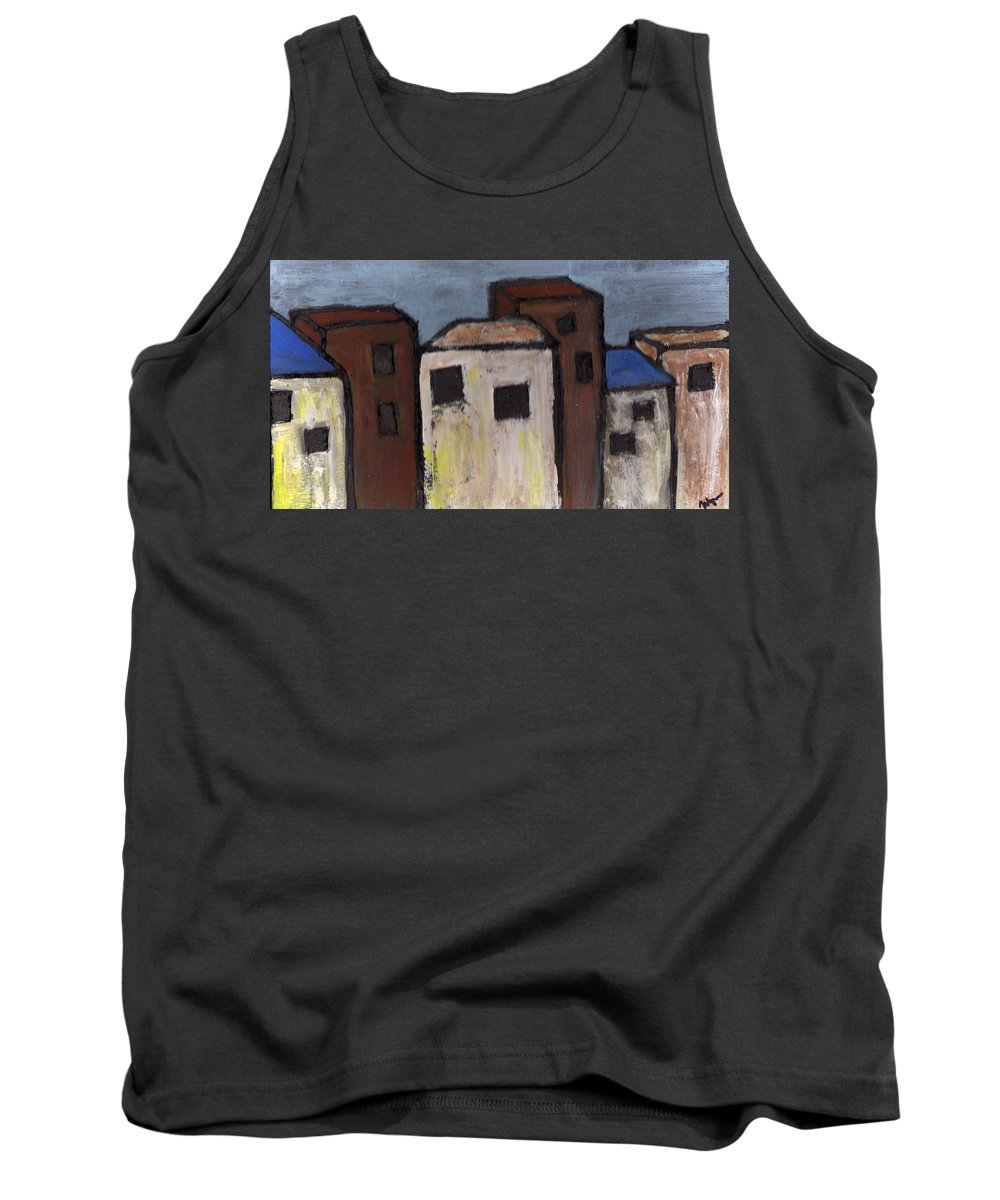 Street Scene Tank Top featuring the painting Narrow Street by Wayne Potrafka