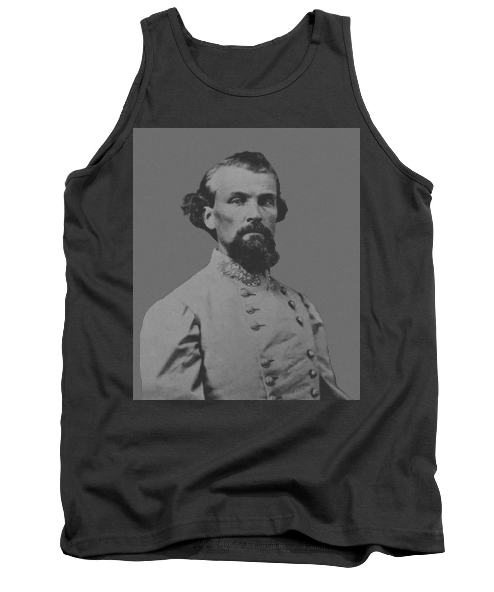 Nathan Bedford Forrest Tank Top featuring the painting Nathan Bedford Forrest by War Is Hell Store
