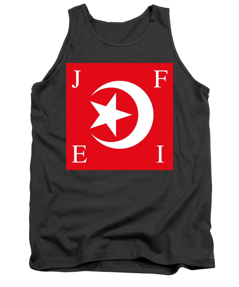Banner Tank Top featuring the digital art Nation Of Islam Flag by Frederick Holiday