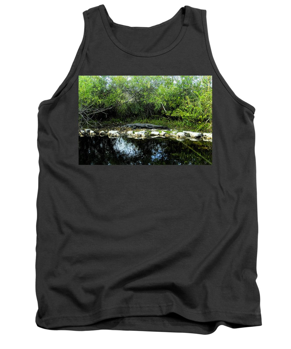 Art Tank Top featuring the painting Native Floridian by David Lee Thompson