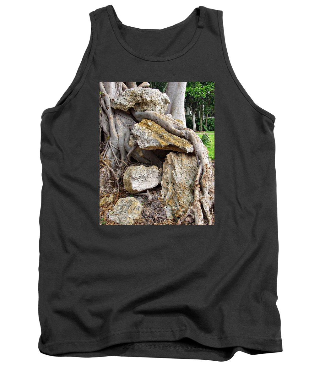 Tree Tank Top featuring the photograph Nature Vs Man by Bruce Roker