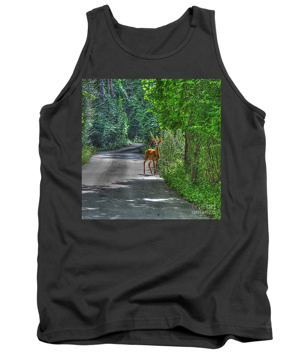 Path Tank Top featuring the photograph Natures Best by Robert Pearson