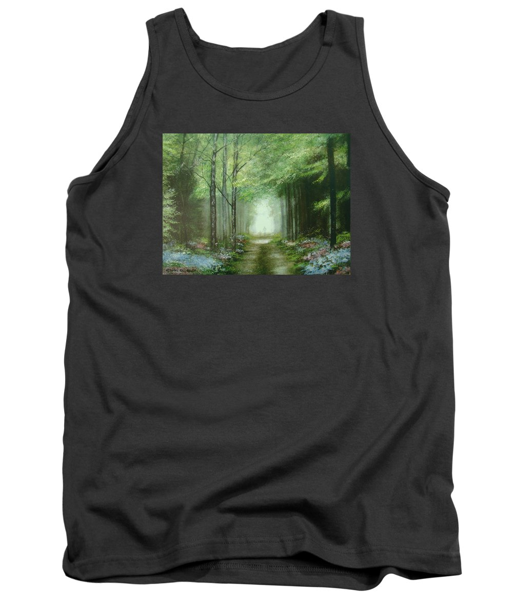 Charles Roy Smith Tank Top featuring the painting Nature's Cathedral by Charles Roy Smith