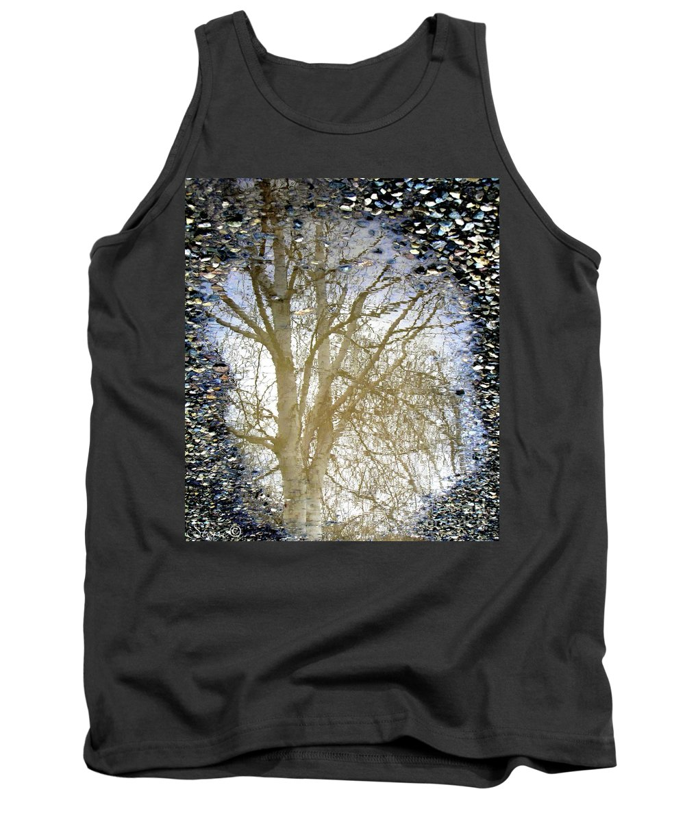 Puddle Tank Top featuring the photograph Natures Looking Glass 4 by September Stone
