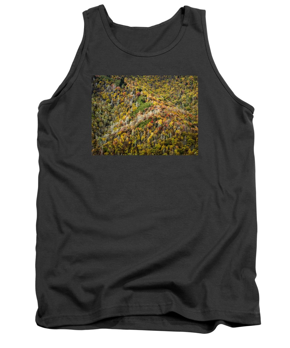 Great Tank Top featuring the photograph Nc Fall Foliage 0543 by Bob Neiman