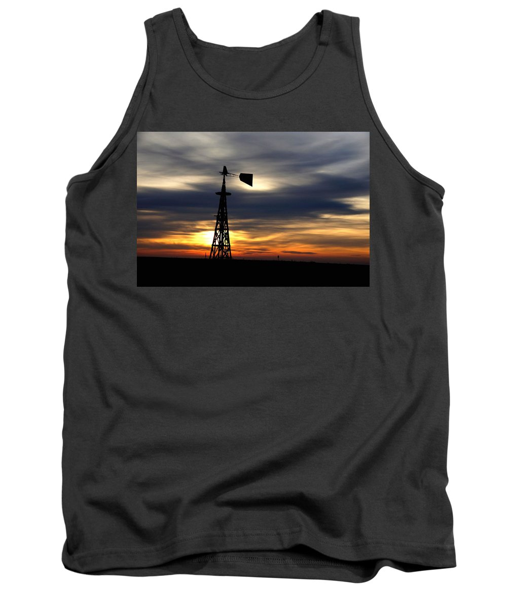 Announcement Tank Top featuring the painting Nearing The End H B by Gert J Rheeders