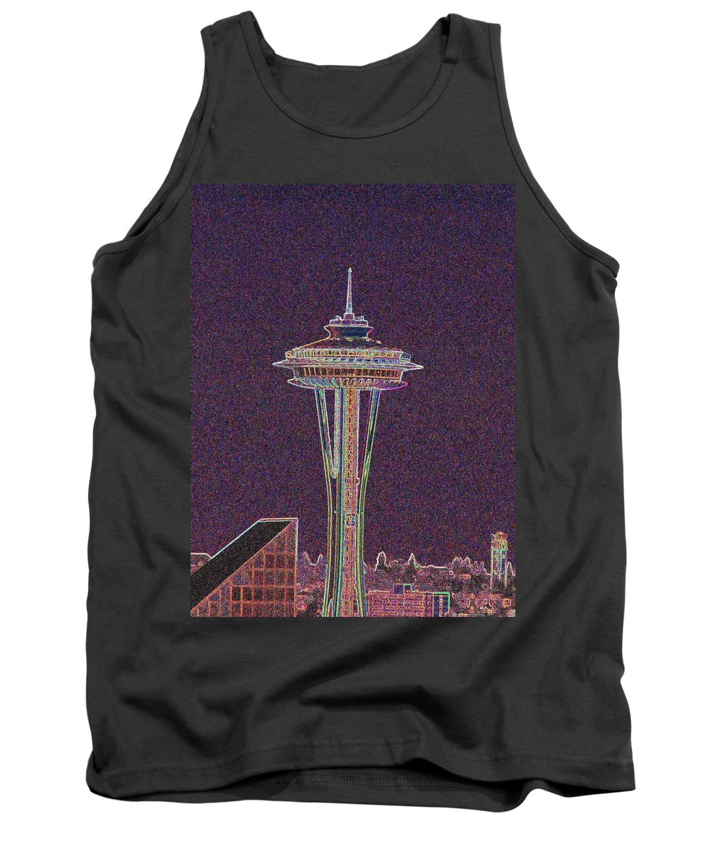 Seattle Tank Top featuring the photograph Needle by Tim Allen