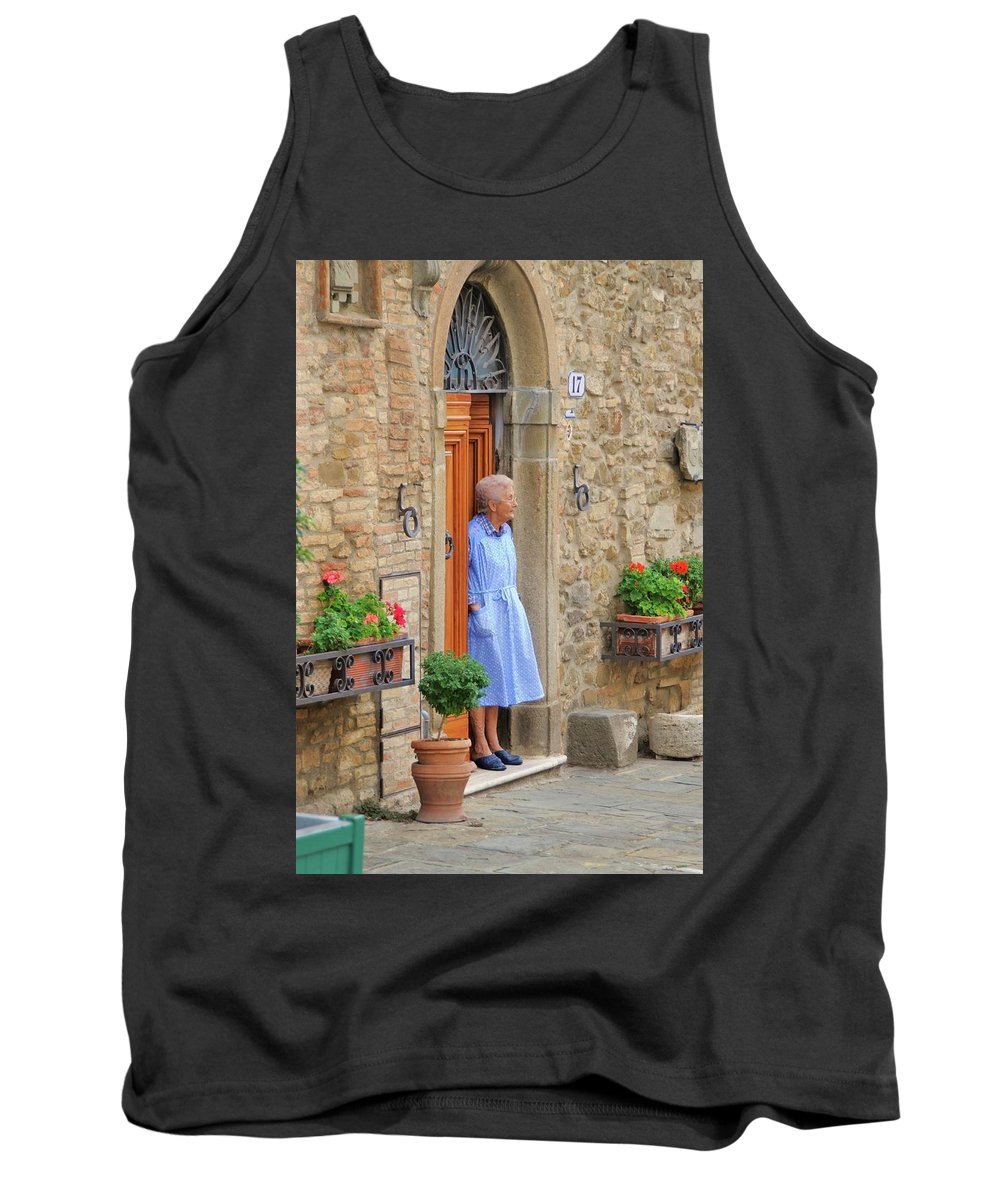 Italy Tank Top featuring the photograph Neighborhood Watch by Jim Benest