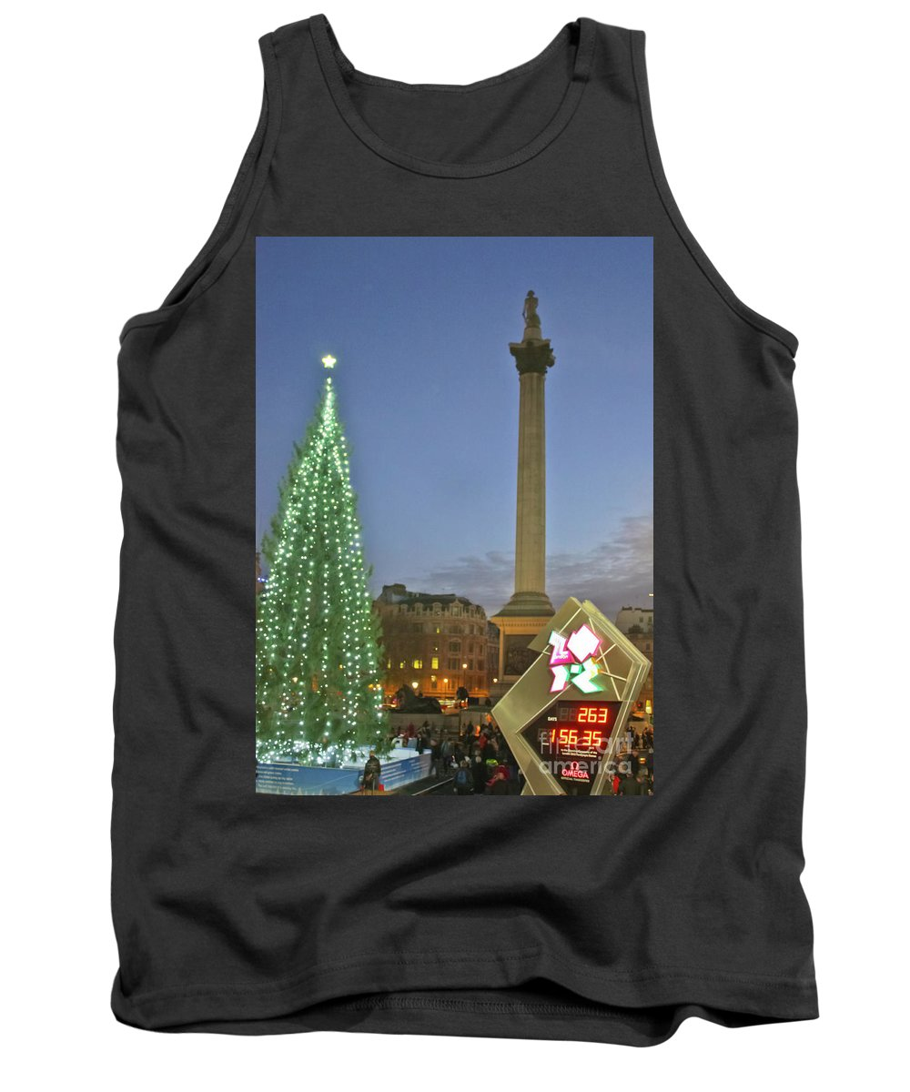 Olympic Clock Tank Top featuring the photograph Nelson's Christmas Tree by Terri Waters