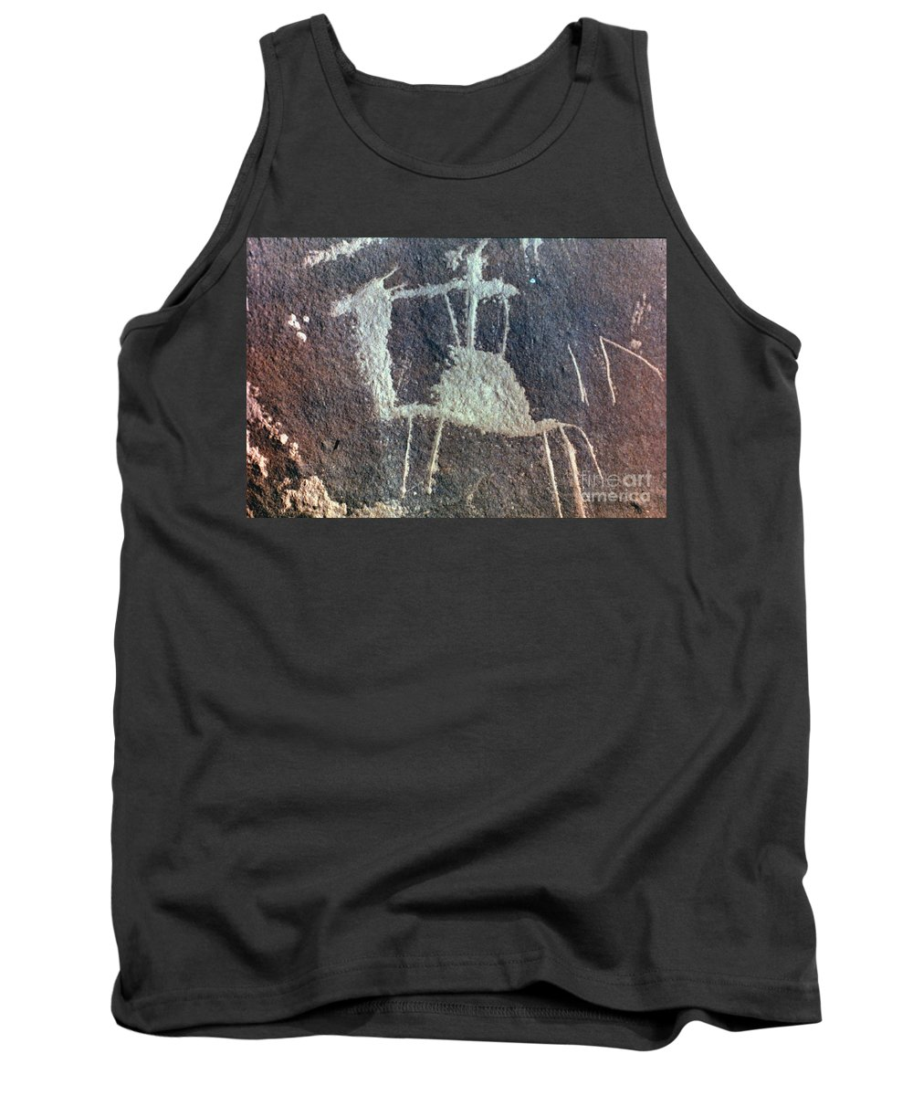 Camel Tank Top featuring the photograph Neolithic Petroglyph by Granger