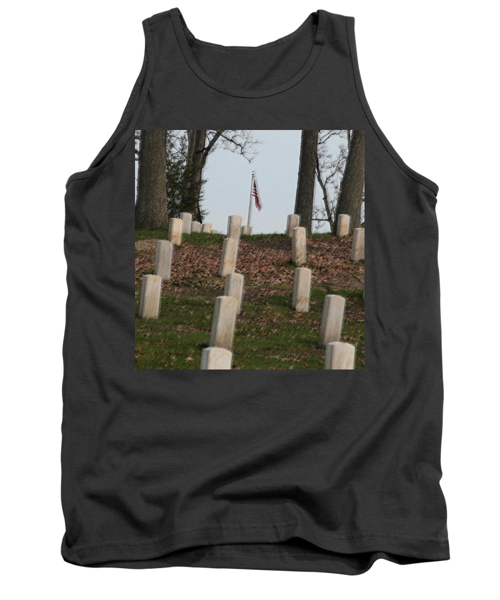 America Tank Top featuring the photograph Never Forget The Cost by Robert Pearson