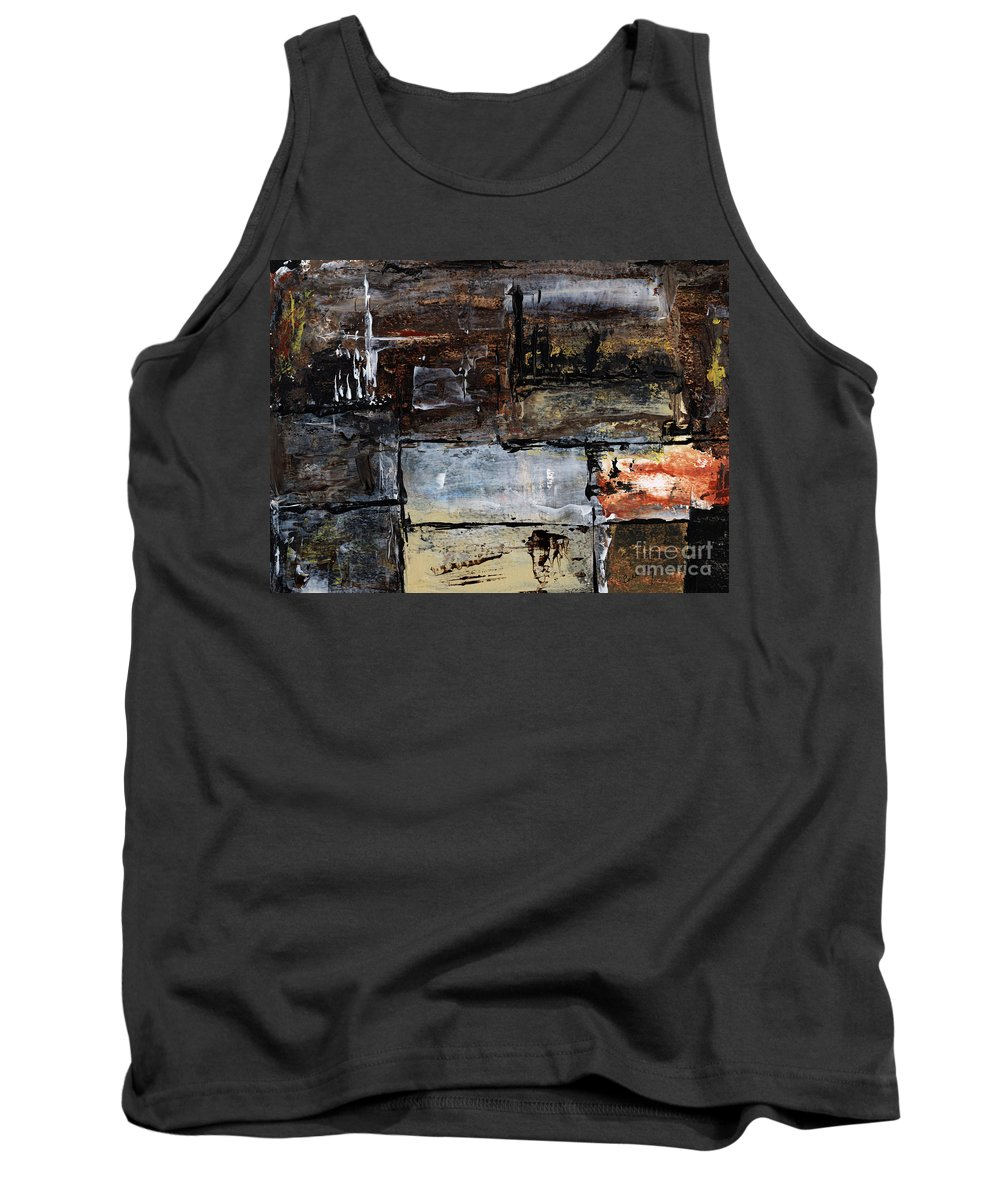 Abstract Art Tank Top featuring the painting Never Give Up by Callan Art
