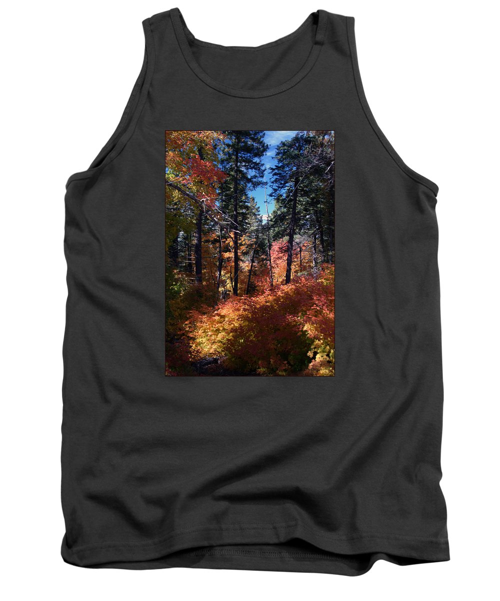 Landscape Tank Top featuring the photograph New Mexico Foliage by Ronnie Gilbert