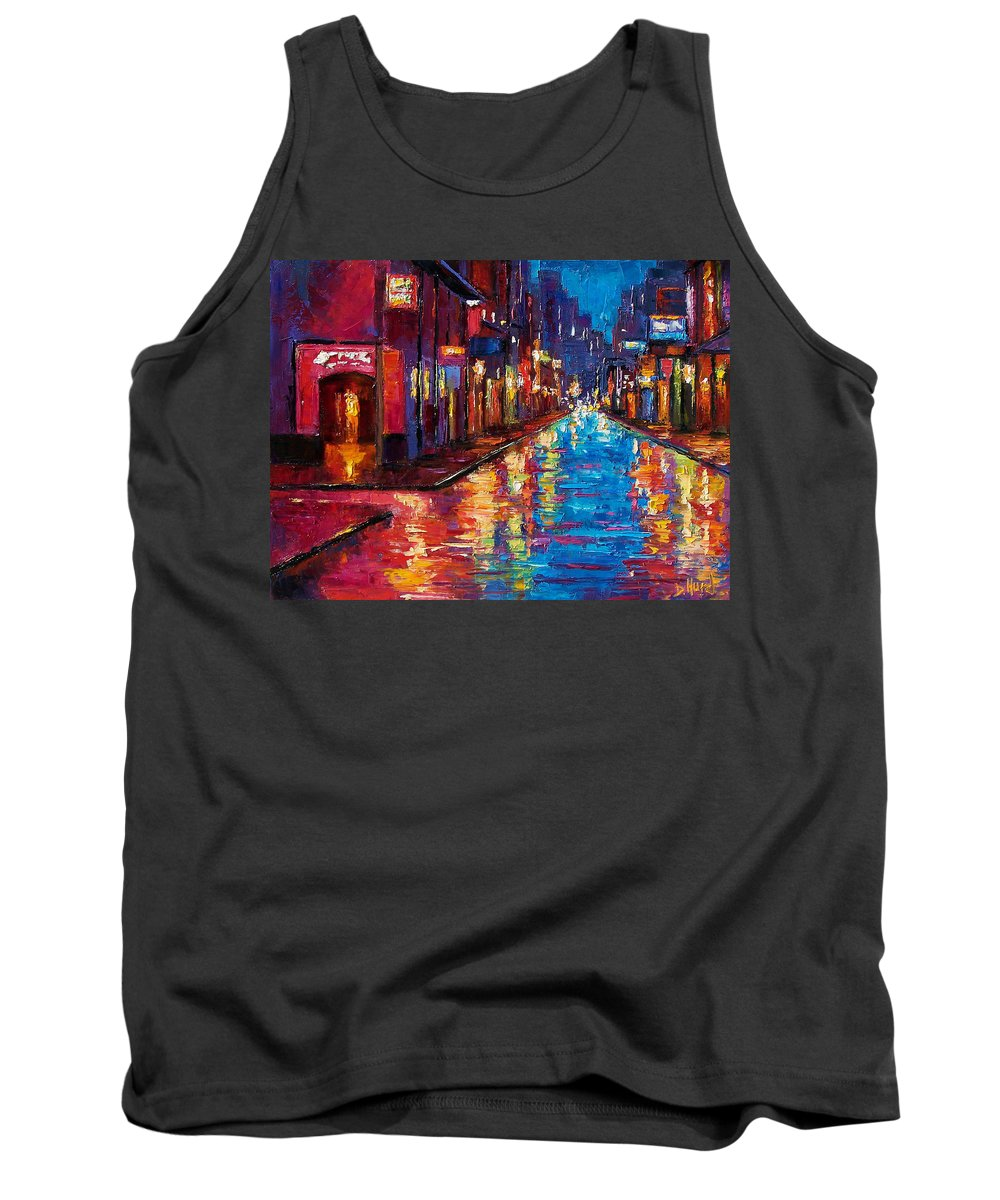 New Orleans Tank Top featuring the painting New Orleans Magic by Debra Hurd