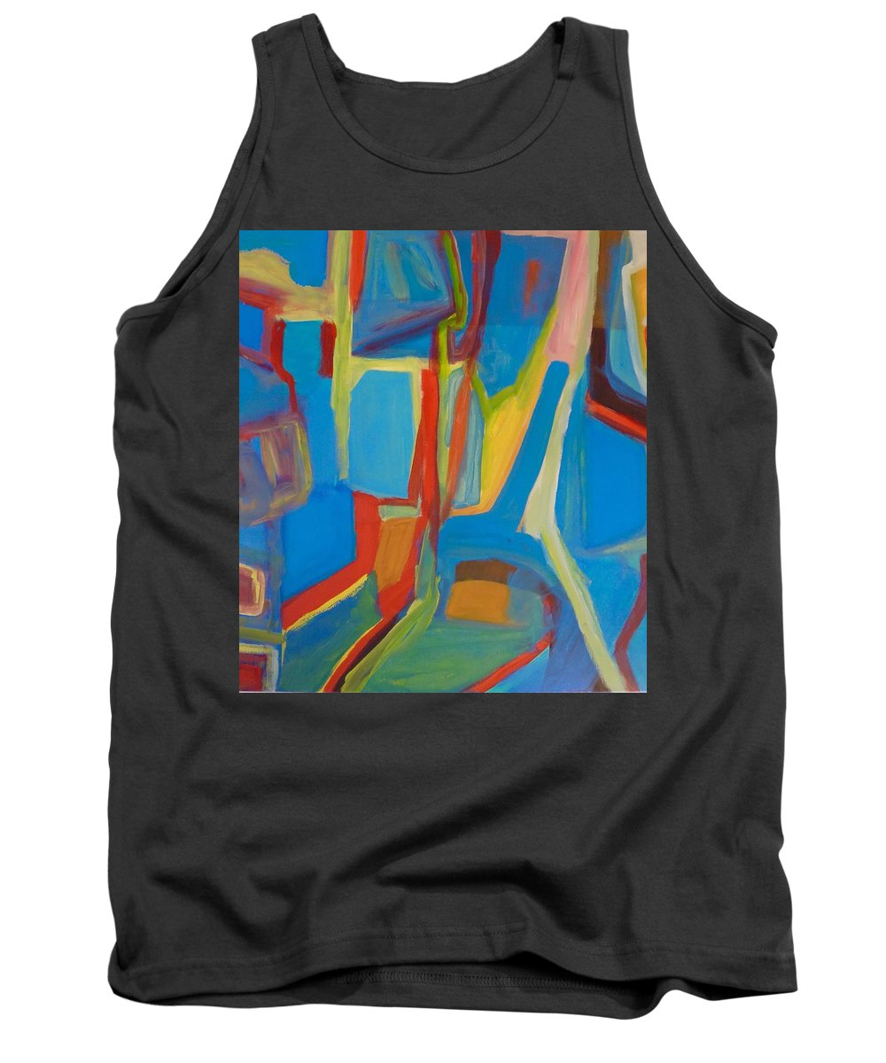 Colourful Tank Top featuring the painting New Pathways #3 by Rosemari Golledge