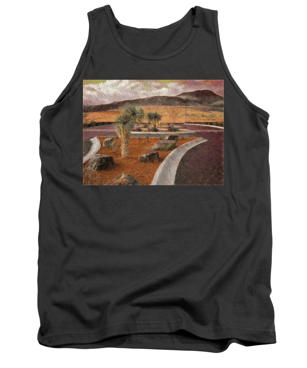 New Mexico Tank Top featuring the photograph New Subdivision View by Melvin Busch