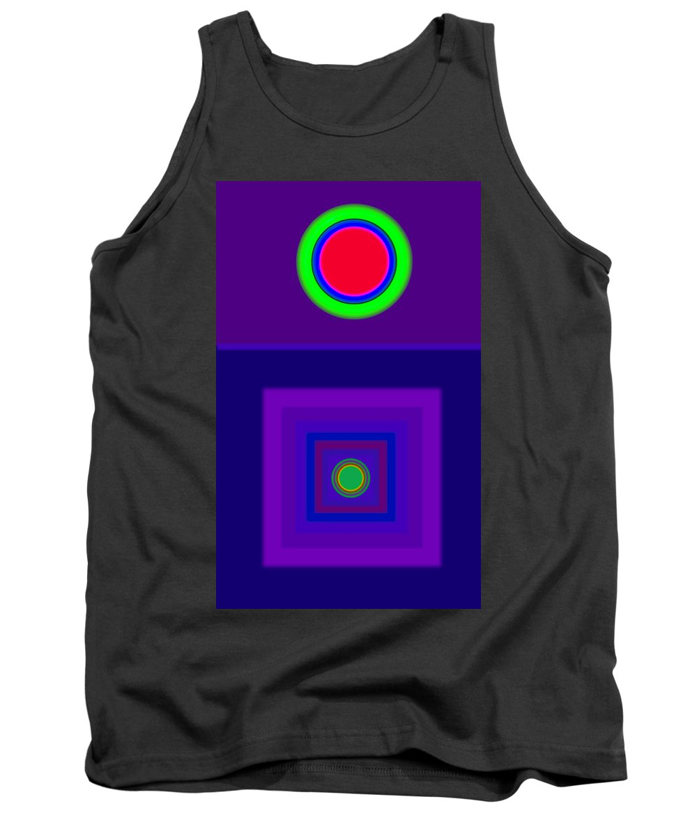 Classical Tank Top featuring the digital art New Violet by Charles Stuart