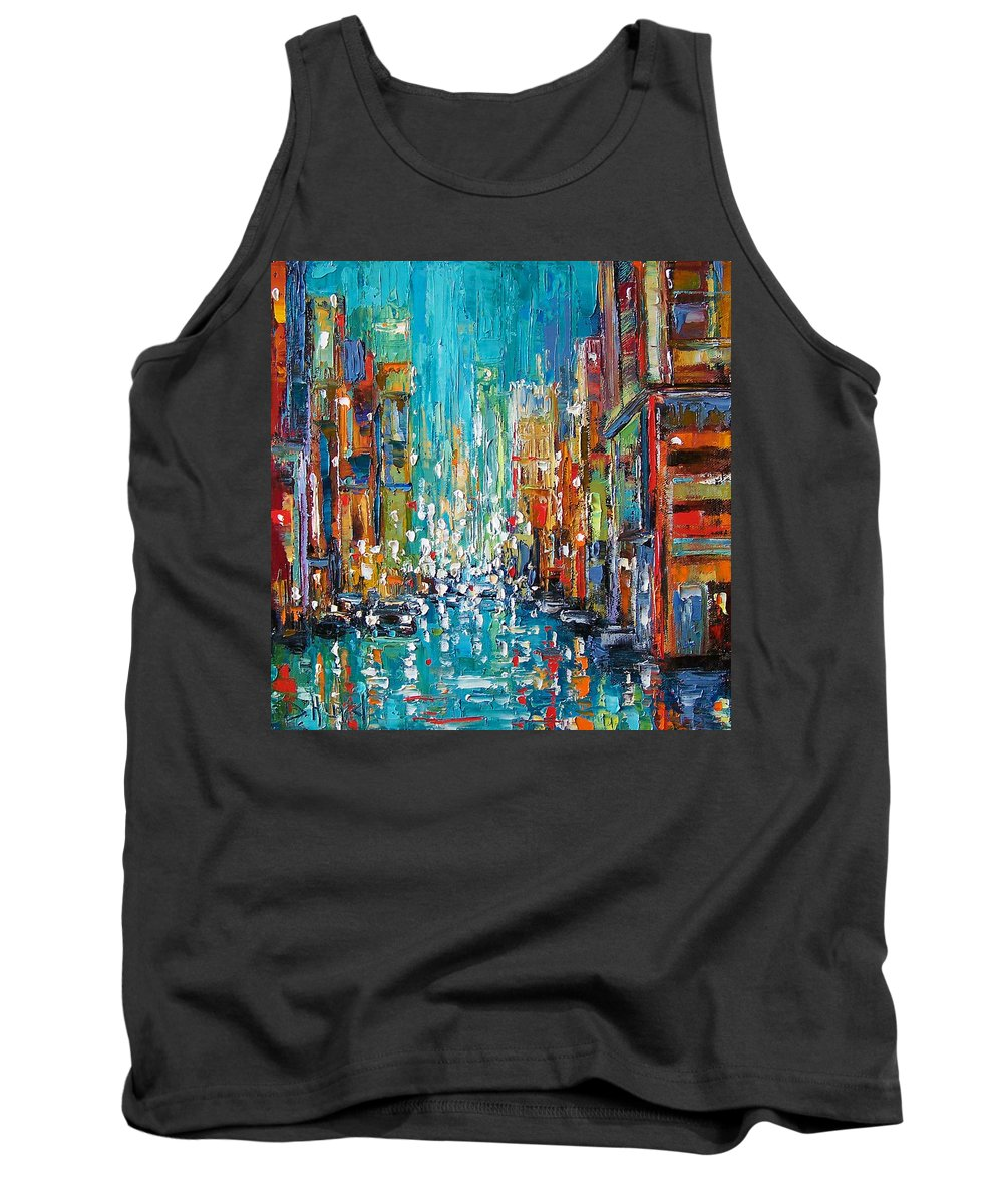 City Art Tank Top featuring the painting New York City by Debra Hurd