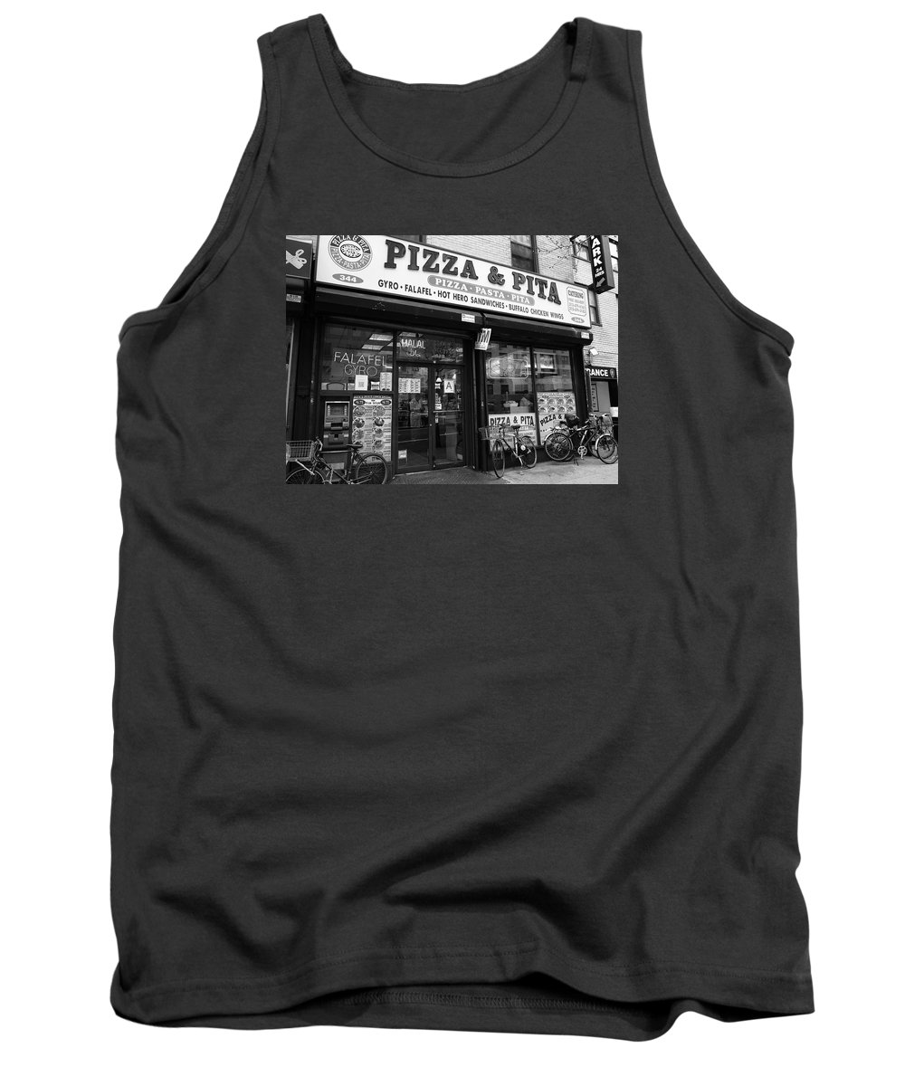 Architecture Tank Top featuring the photograph New York City Storefront Bw6 by Frank Romeo