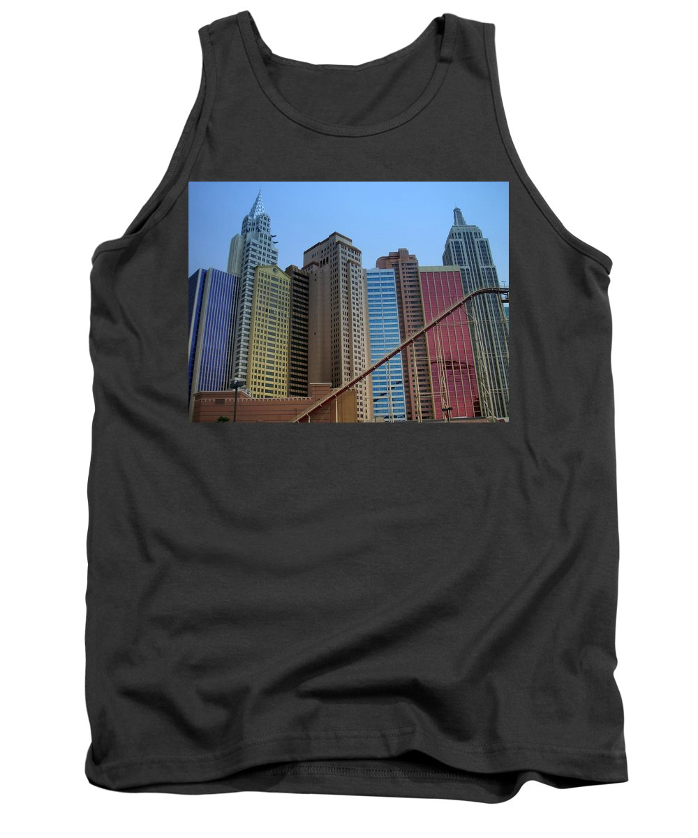 Vegas Tank Top featuring the photograph New York Hotel by Anita Burgermeister
