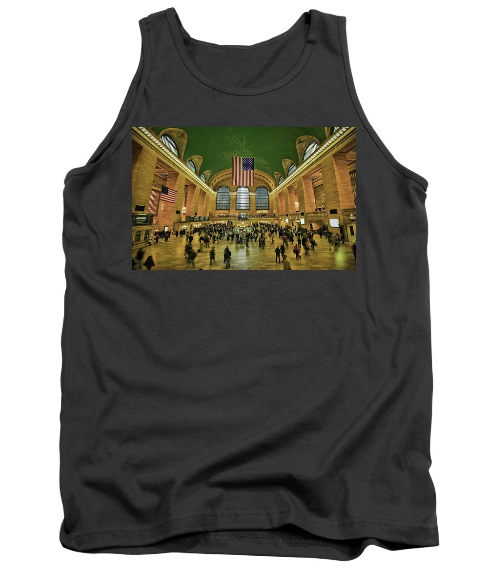 Architecture Tank Top featuring the photograph New York Minute by Evelina Kremsdorf