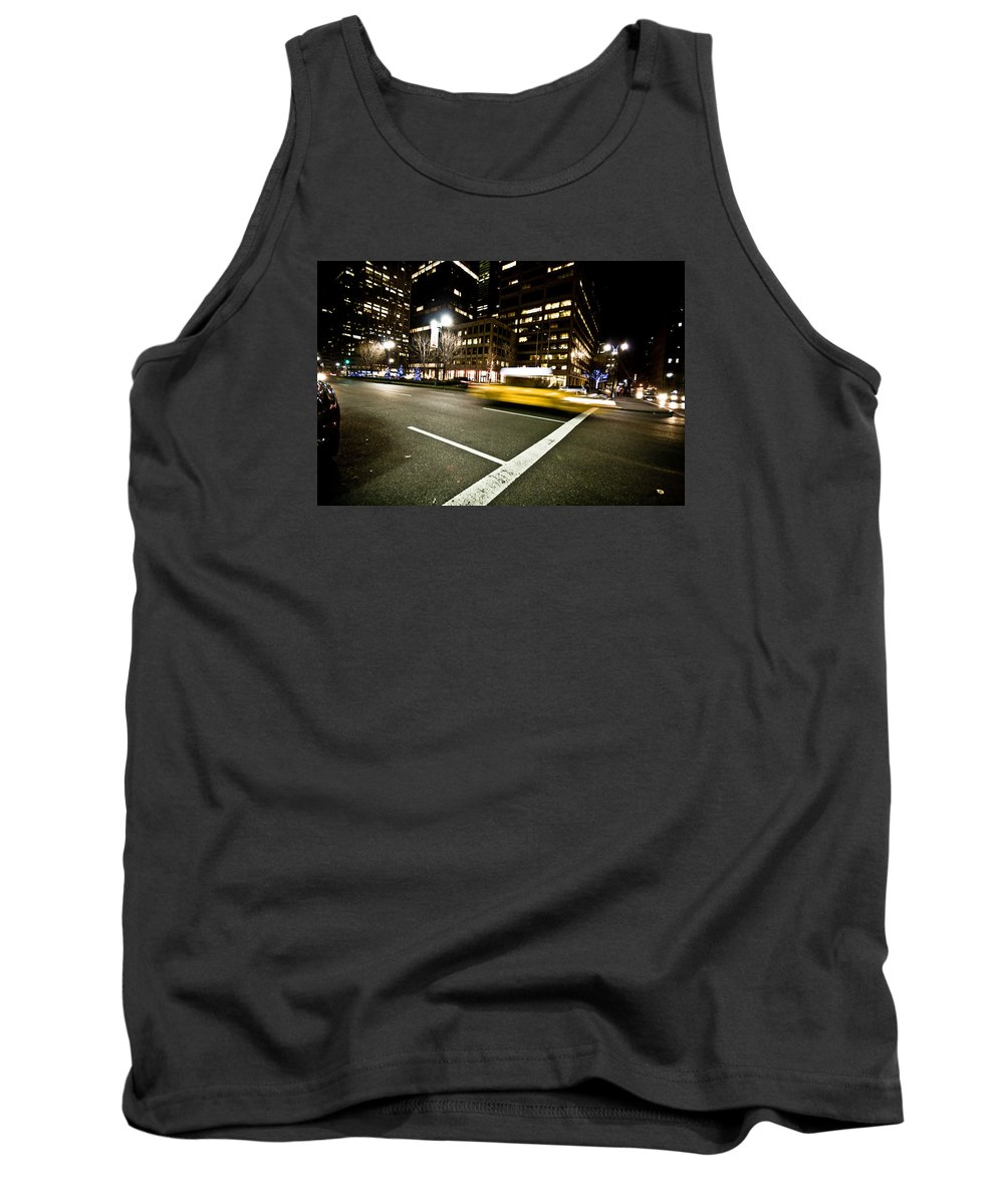 Nyc Tank Top featuring the photograph New York Minute by Robert J Caputo