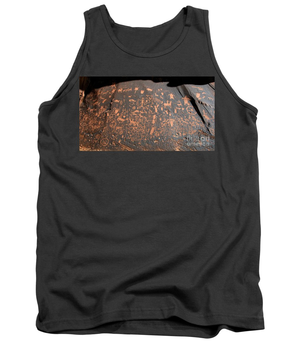 Newspaper Rock State Park Utah Tank Top featuring the photograph Newspaper Rock by David Lee Thompson