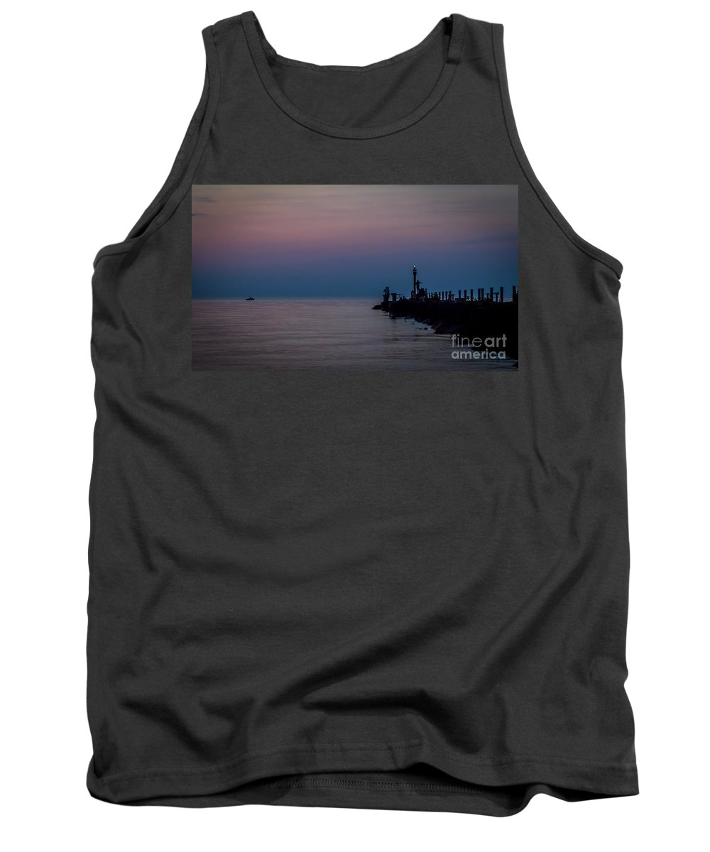 Water Tank Top featuring the photograph Night Approach by Joann Long