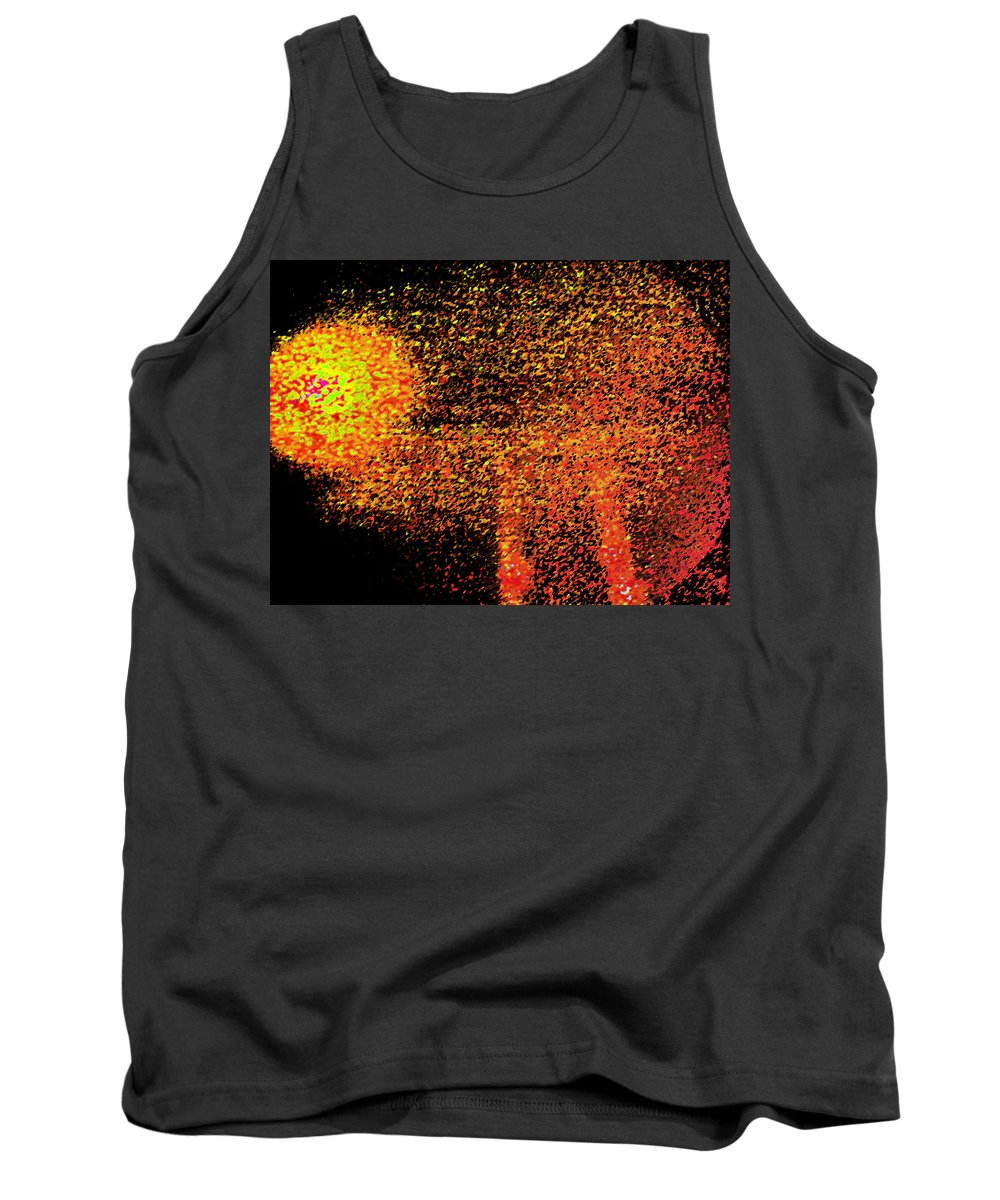 Abstract Tank Top featuring the digital art Night As A Many Splendored Thing by Lenore Senior