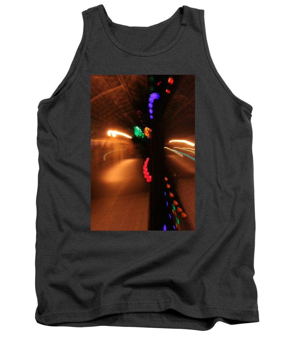 Abstract Tank Top featuring the photograph Night Diptych 2 by Ric Bascobert