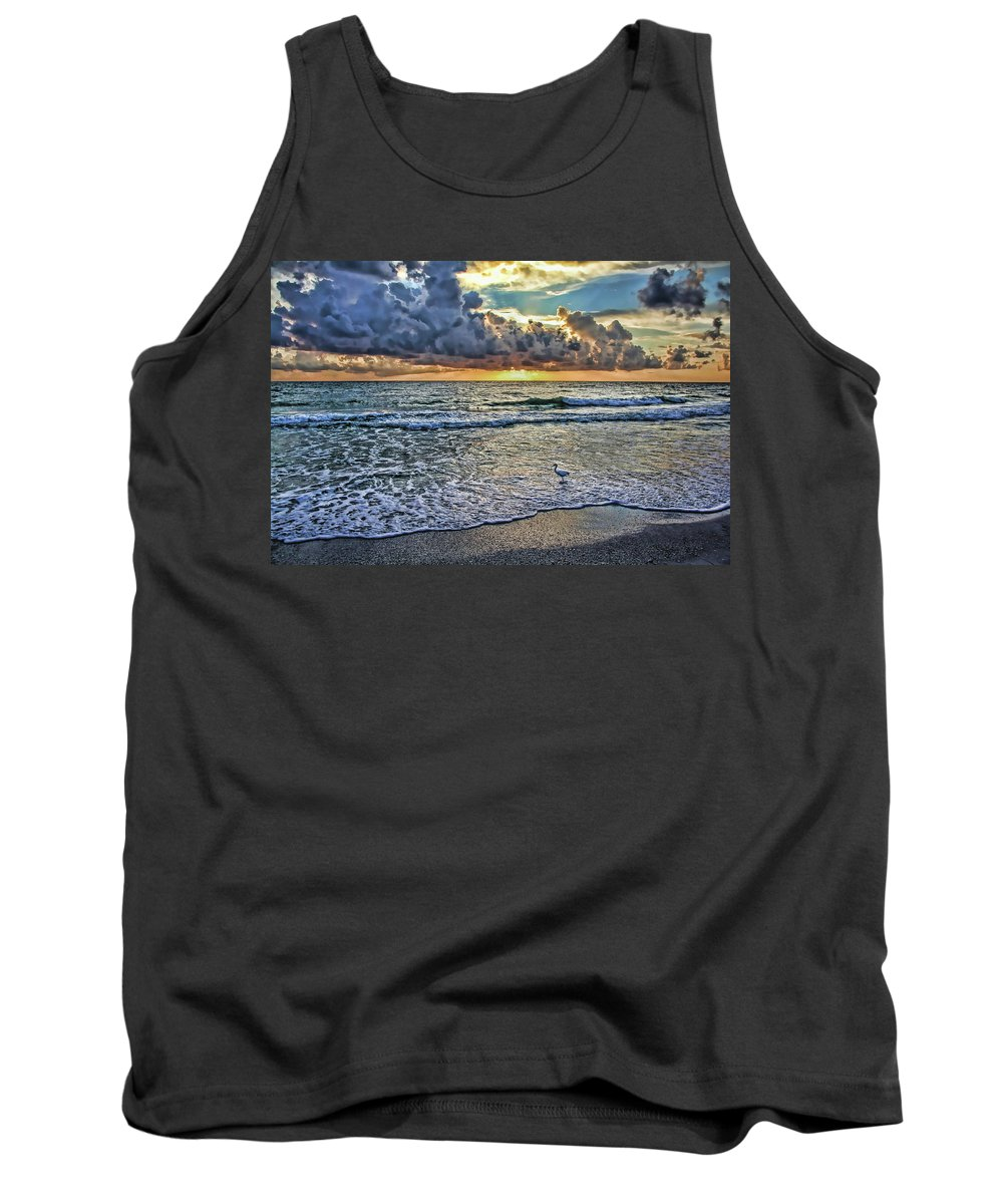 Anna Maria Island Florida Tank Top featuring the photograph Night Fishing by HH Photography of Florida