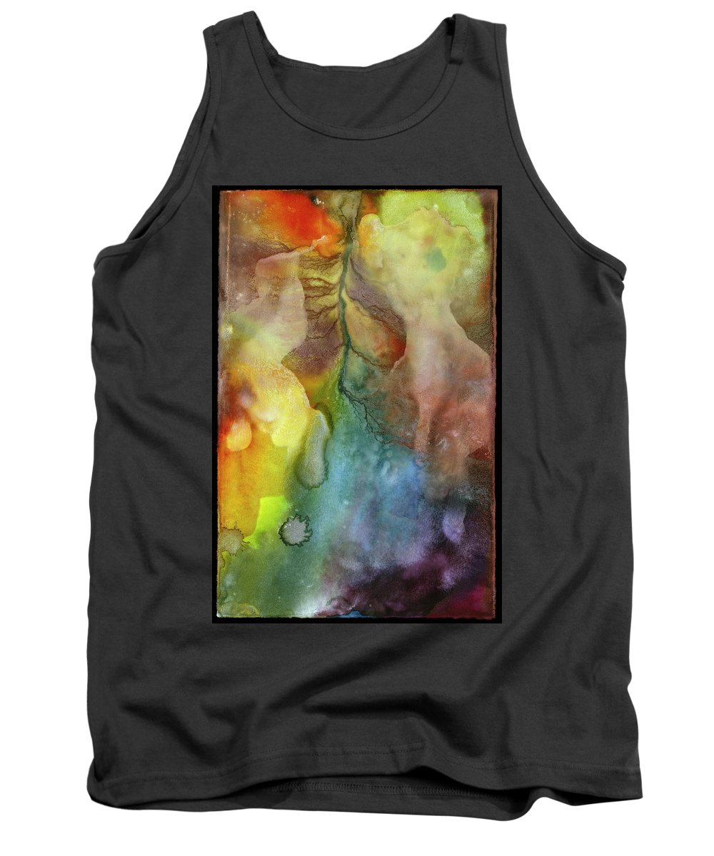 Abstract Tank Top featuring the painting Waking Dream by Sperry Andrews