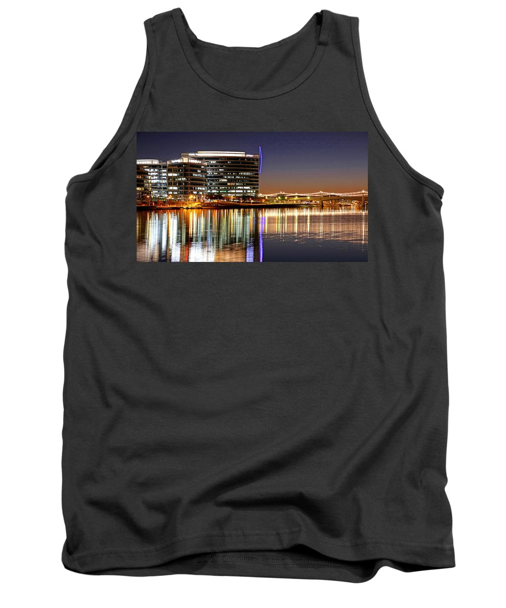 Skyline Tank Top featuring the photograph Night Lights by David Ross