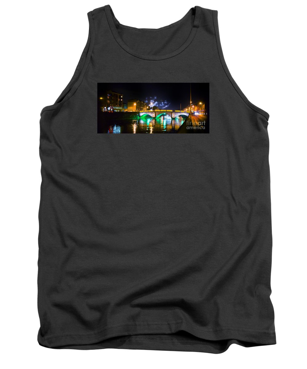 Guinness Factory Tank Top featuring the photograph Night Smoke by Alex Art and Photo