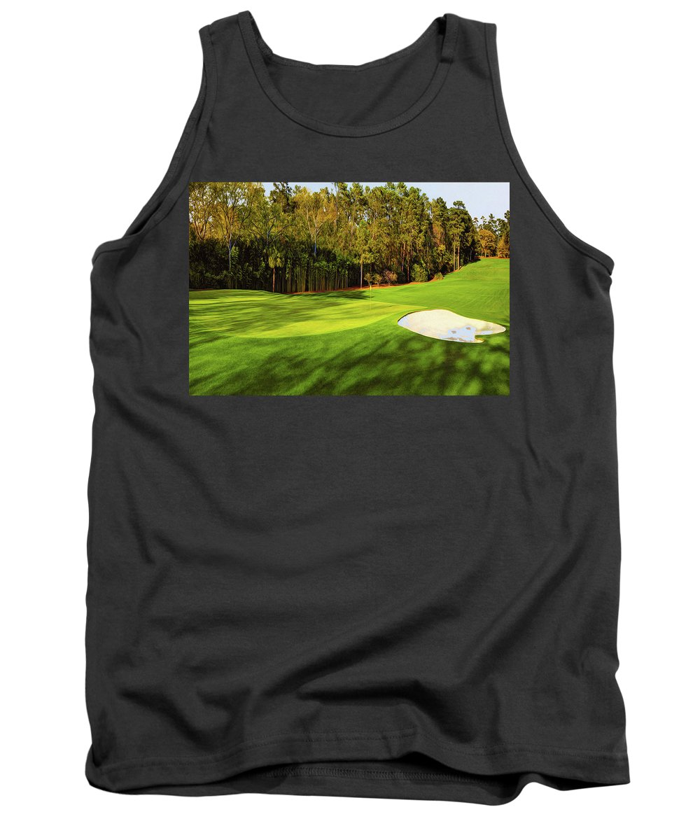 Home Art Tank Top featuring the digital art No. 4 Flowering Crabapple Par 3 240 Yards by Don Kuing