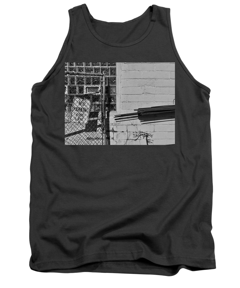 Midwest Tank Top featuring the photograph No Parking by Julian Grant