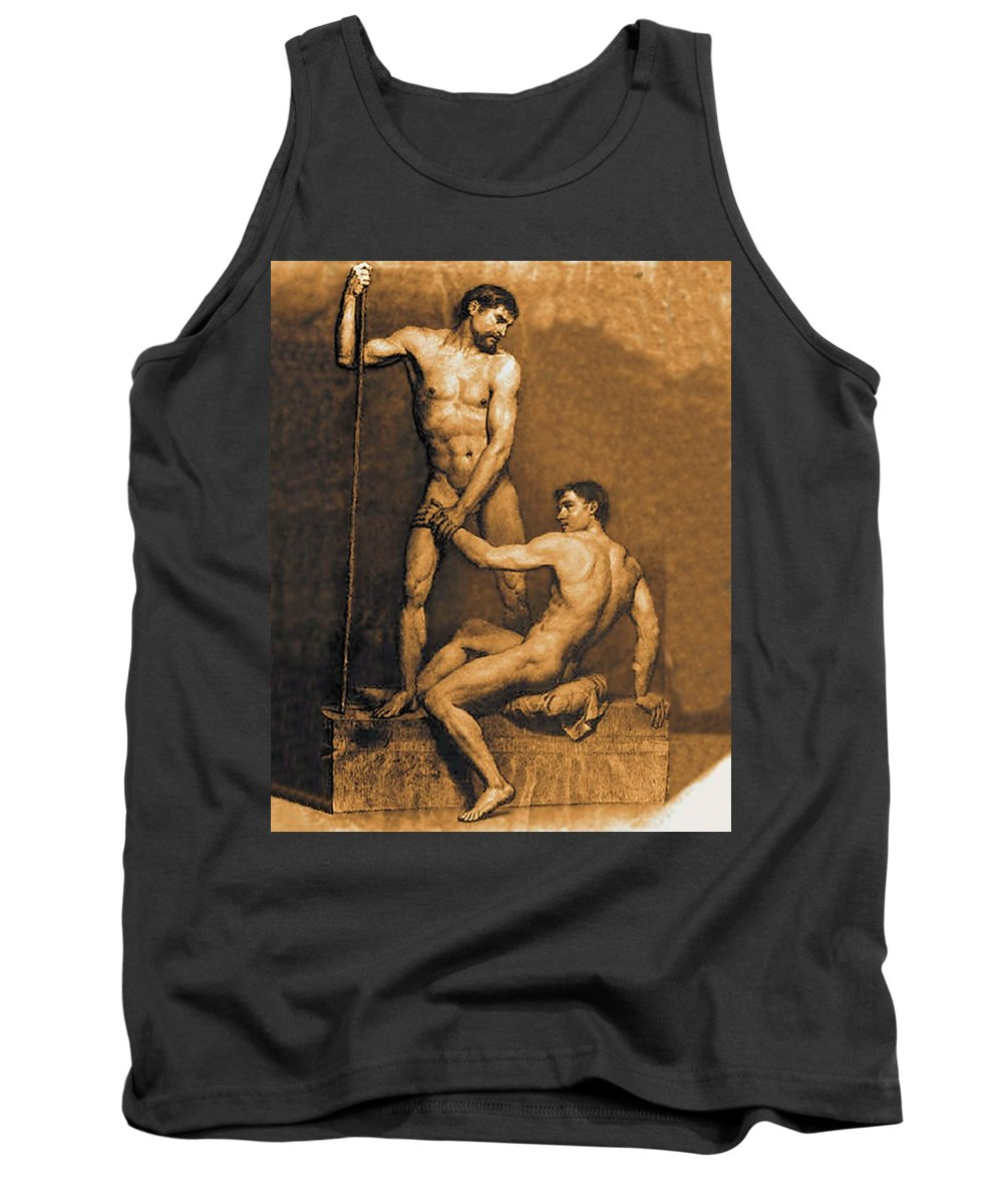 Noli Me Tangere Tank Top featuring the painting Noli Me Tangere by Troy Caperton