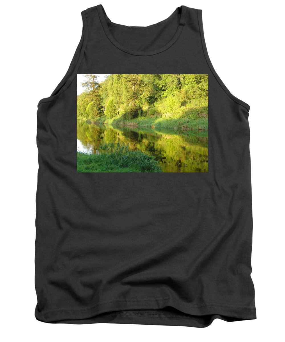 Nore Tank Top featuring the photograph Nore Reflections II by Kelly Mezzapelle