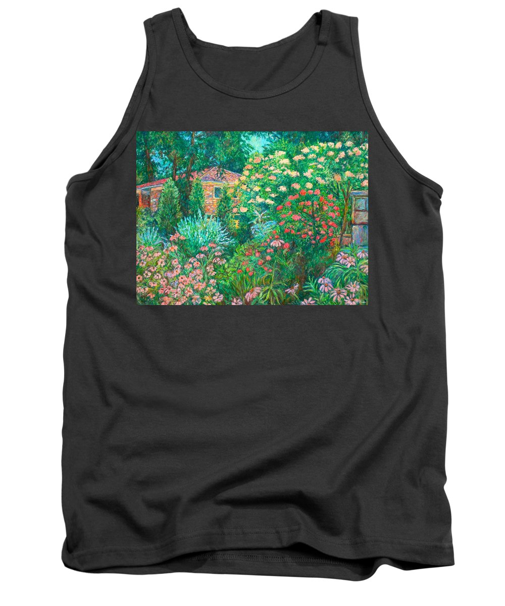 Garden Tank Top featuring the painting North Albemarle In Mclean Va by Kendall Kessler