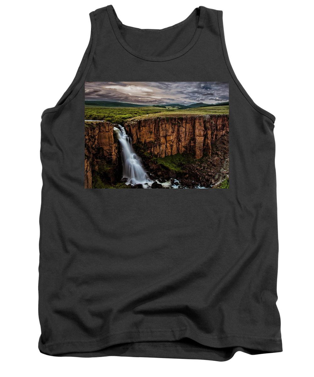 Sky Tank Top featuring the photograph North Clear Creek Falls by Jeff Niederstadt