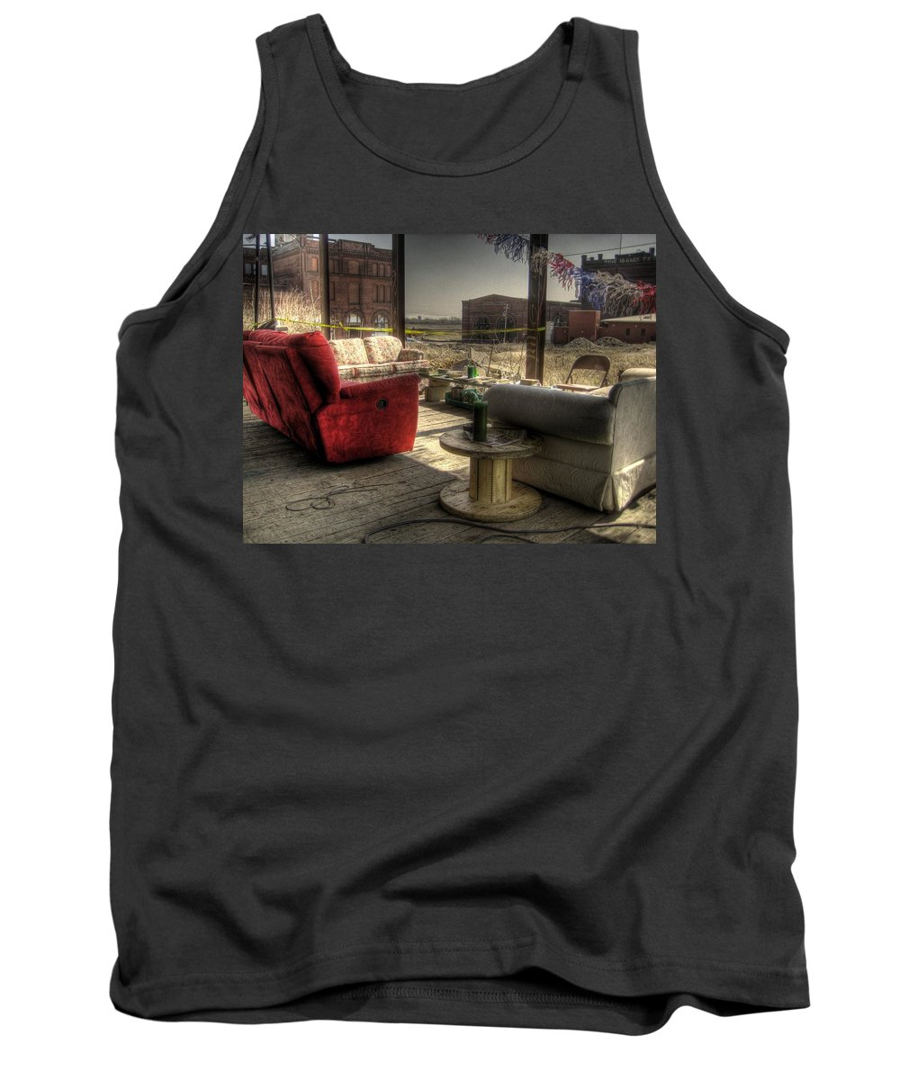 Hdr Tank Top featuring the photograph North St. Louis Porch by Jane Linders