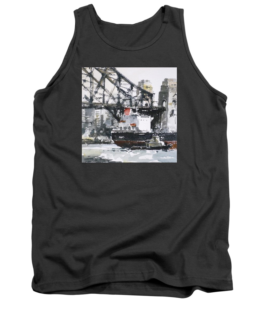 Seascape Tank Top featuring the painting North Sydney Australia by Tony Belobrajdic