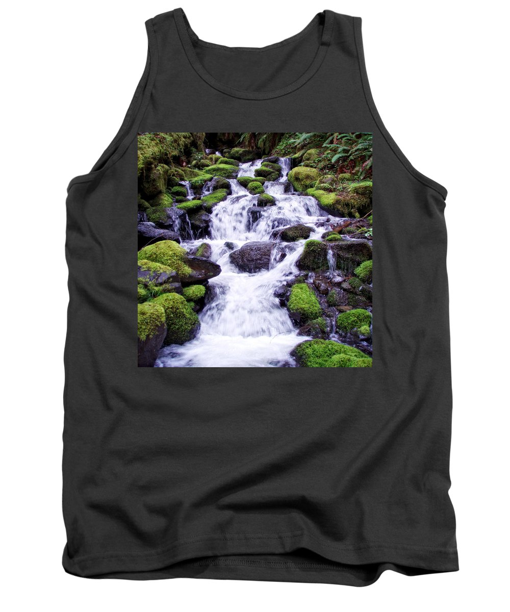 Columbia Gorge Tank Top featuring the photograph North Umpqua Wild And Scenic River by Ingrid Smith-Johnsen