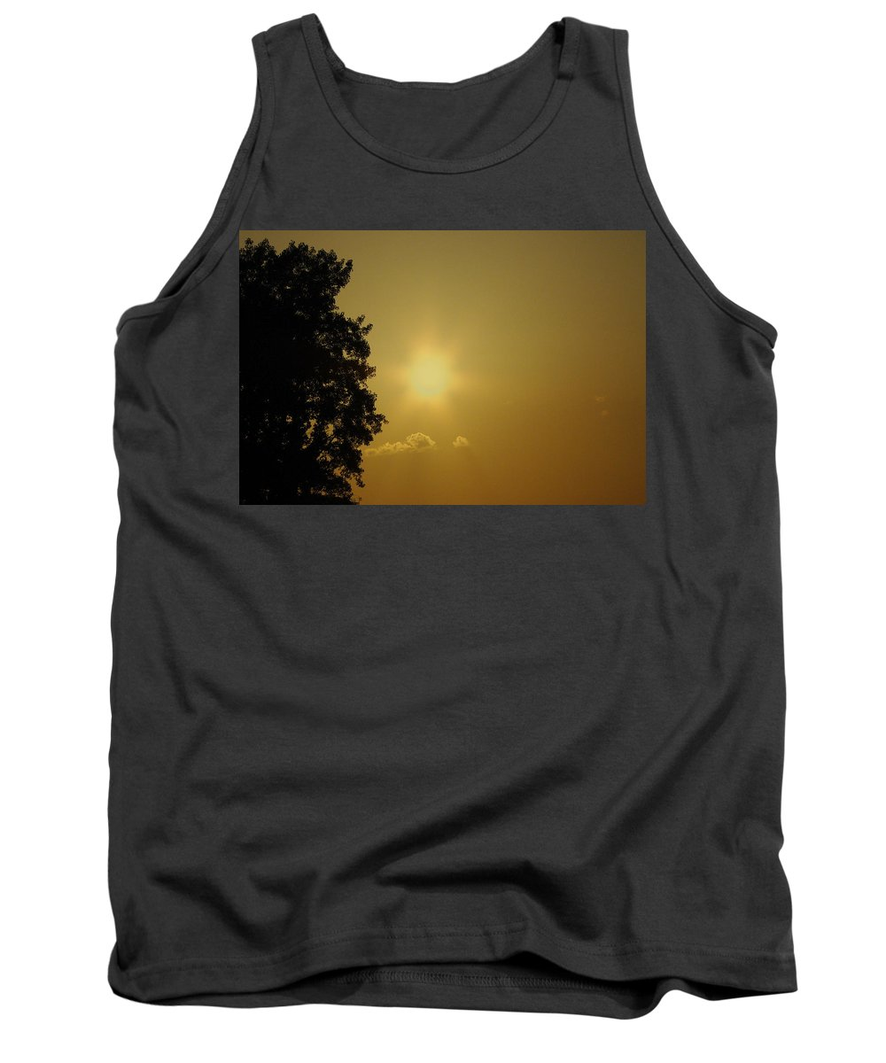 Sunset Tank Top featuring the photograph Not Your Average Mellow Yellow by Jenny Gandert
