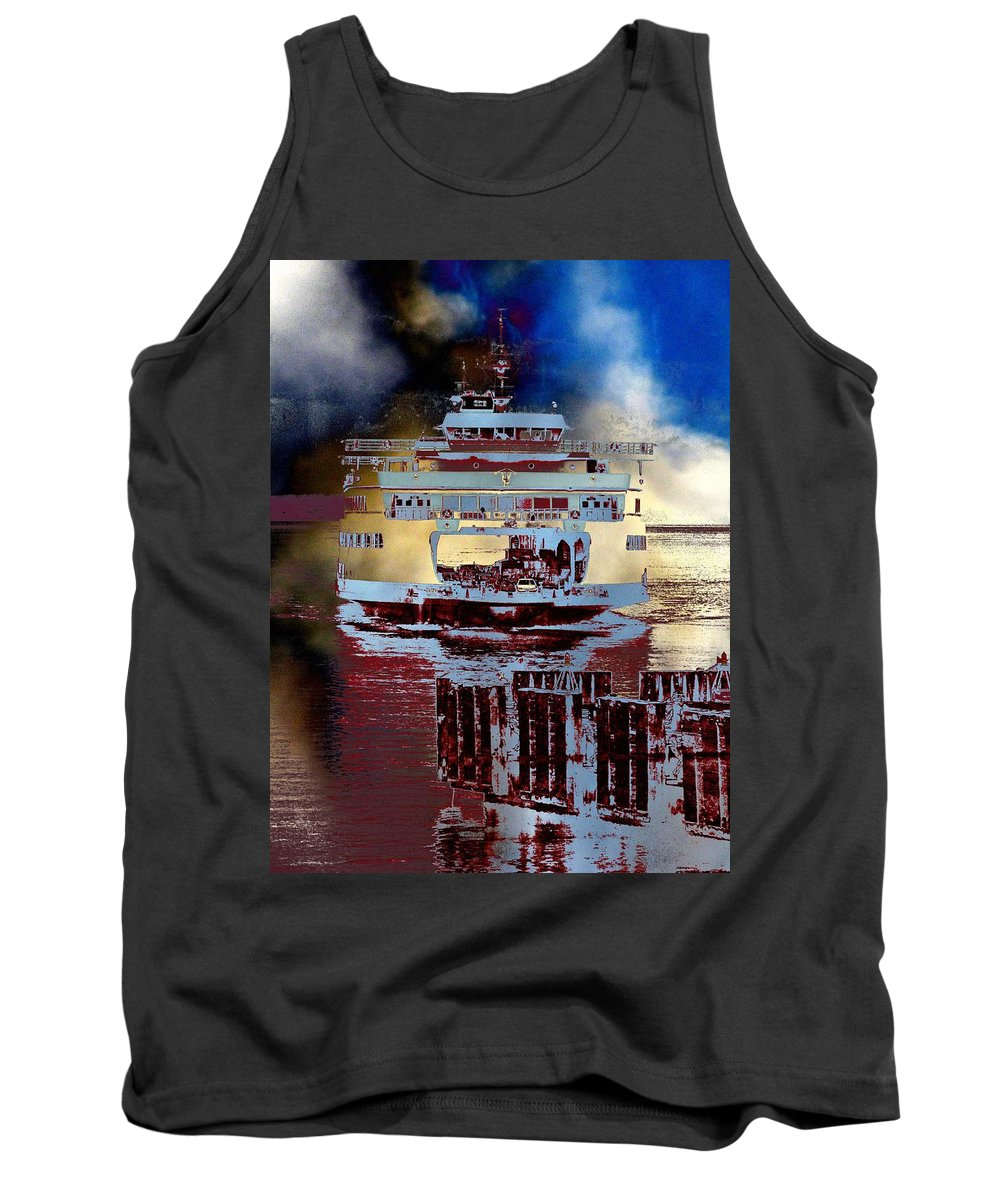 Seattle Tank Top featuring the photograph Now Arriving by Tim Allen