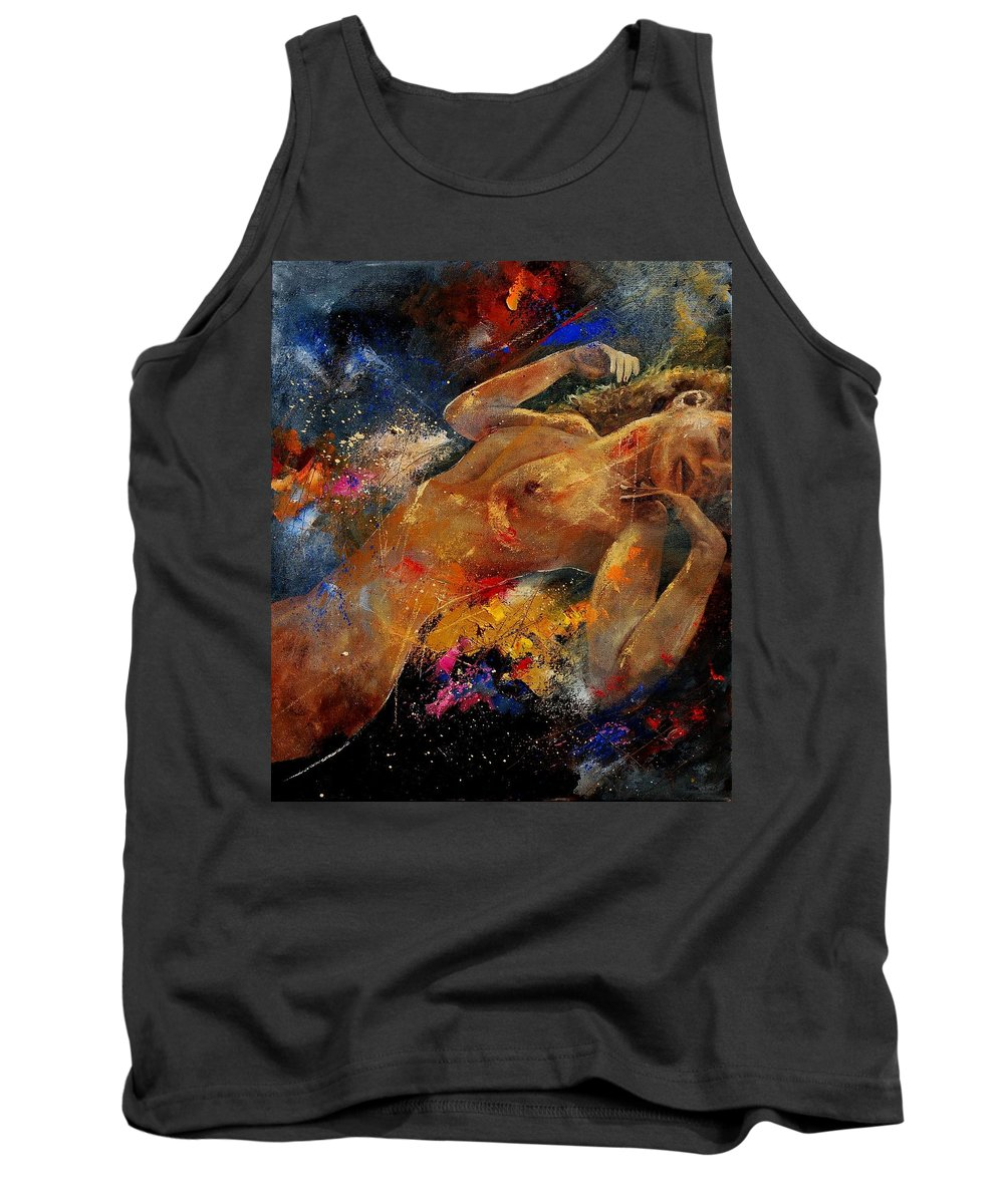 Nude Tank Top featuring the painting Nude 0604 by Pol Ledent