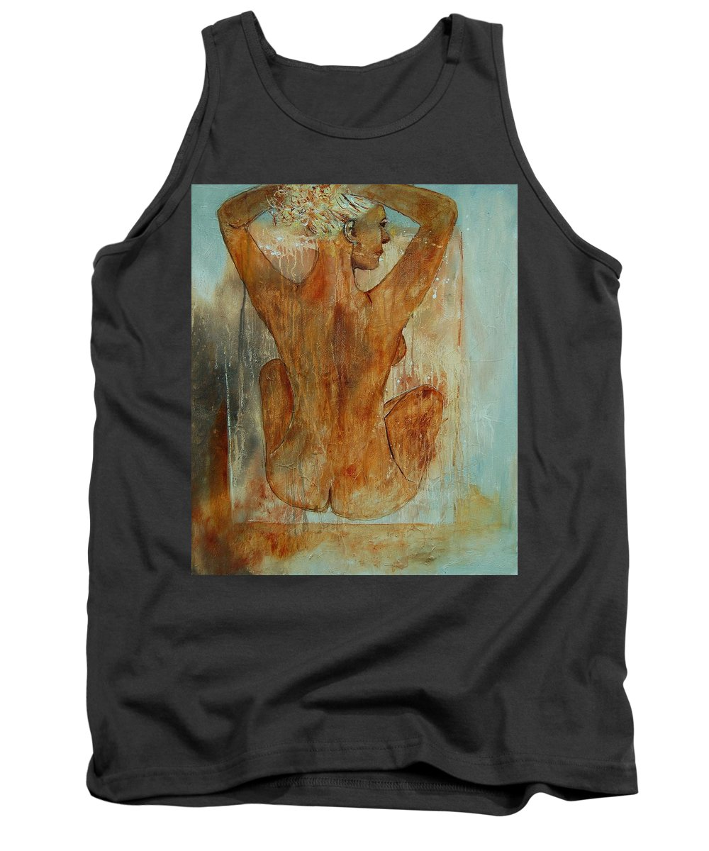 Nude Tank Top featuring the painting Nude 56901101 by Pol Ledent
